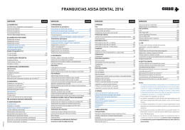 FRANQUICIAS ASISA DENTAL 2016