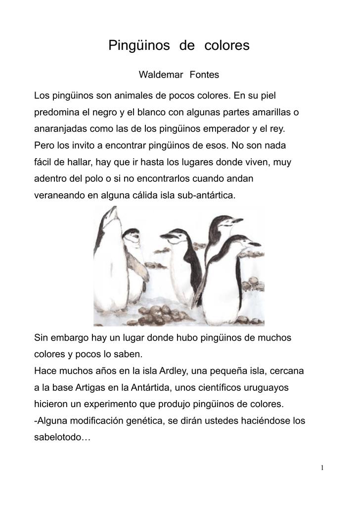 Pingüinos de colores