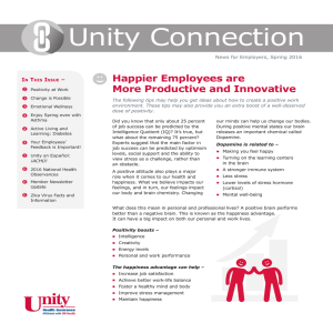 Unity Connection | News for Employers