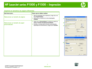 HP LaserJet P1000 and P1500 Series - Print on different page sizes