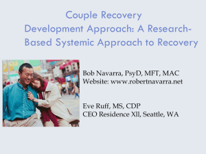 Couple Recovery Development Approach