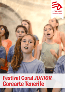Corearte Junior Tenerife - Choir Festival COREARTE