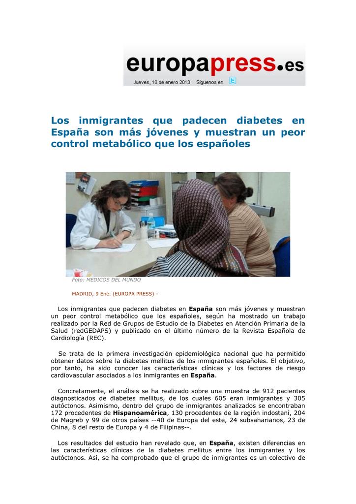 diabetes de la red de médicos migrantes