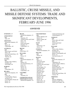 npr 4.1: ballistic, cruise missile, and missile defense systems