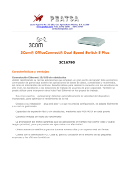 3Com® OfficeConnect® Dual Speed Switch 5 Plus 3C16790