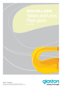 Tables and Lines Float glass