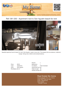 081-293 - Apartment next to San Agustin beach for rent