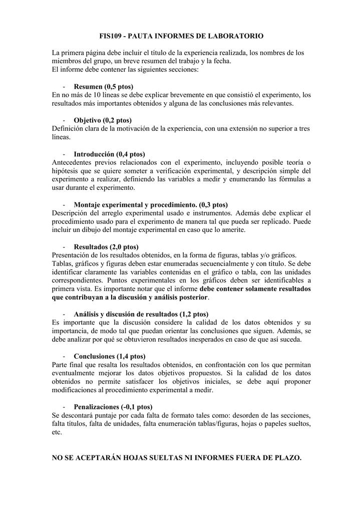 Como hacer una discusion de un informe de laboratorio