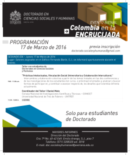 Colombia en la ENCRUCIJADA - Pontificia Universidad Javeriana
