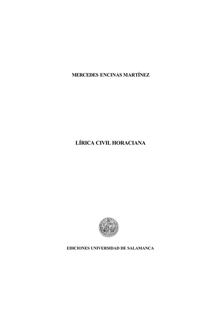 Lírica civil horaciana Gredos