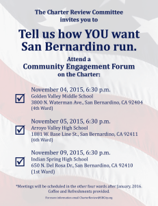 Tell us how YOU want San Bernardino run.