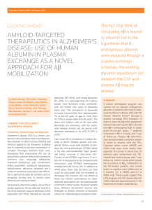 Amyloid-targeted therapeutics in Alzheimer`s disease
