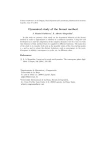 Dynamical study of the Secant method