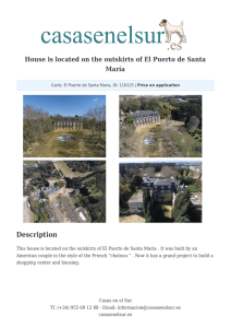 House is located on the outskirts of El Puerto de