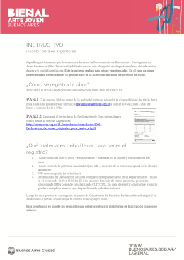 Instructivo para inscribir obra en Argentores
