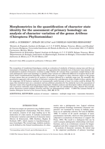 Morphometrics in the quantification of character state identity for the