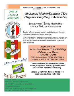 6th Annual Mother/Daughter TEA (Together Everything is