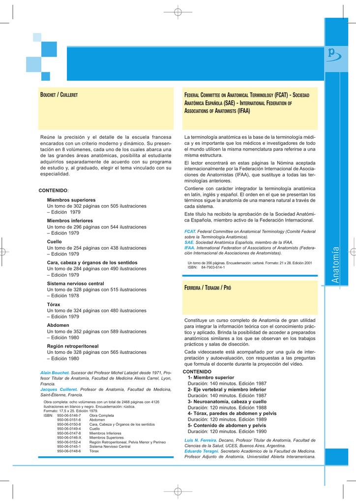Anatomía - Editorial Médica Panamericana