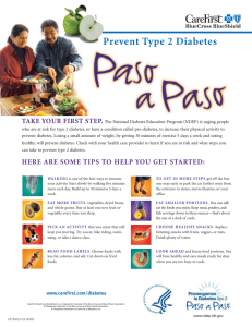 Paso a Paso - Preventing Diabetes Brochure