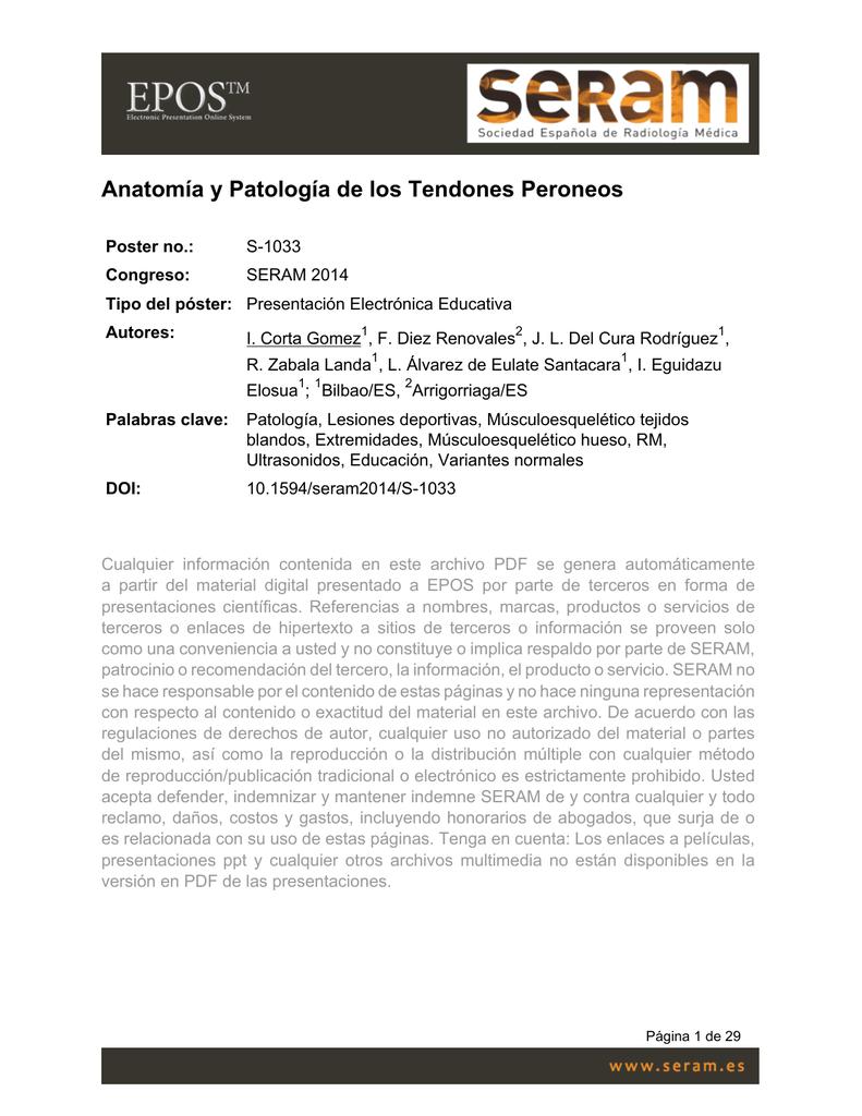 Anatomía y Patología de los Tendones Peroneos