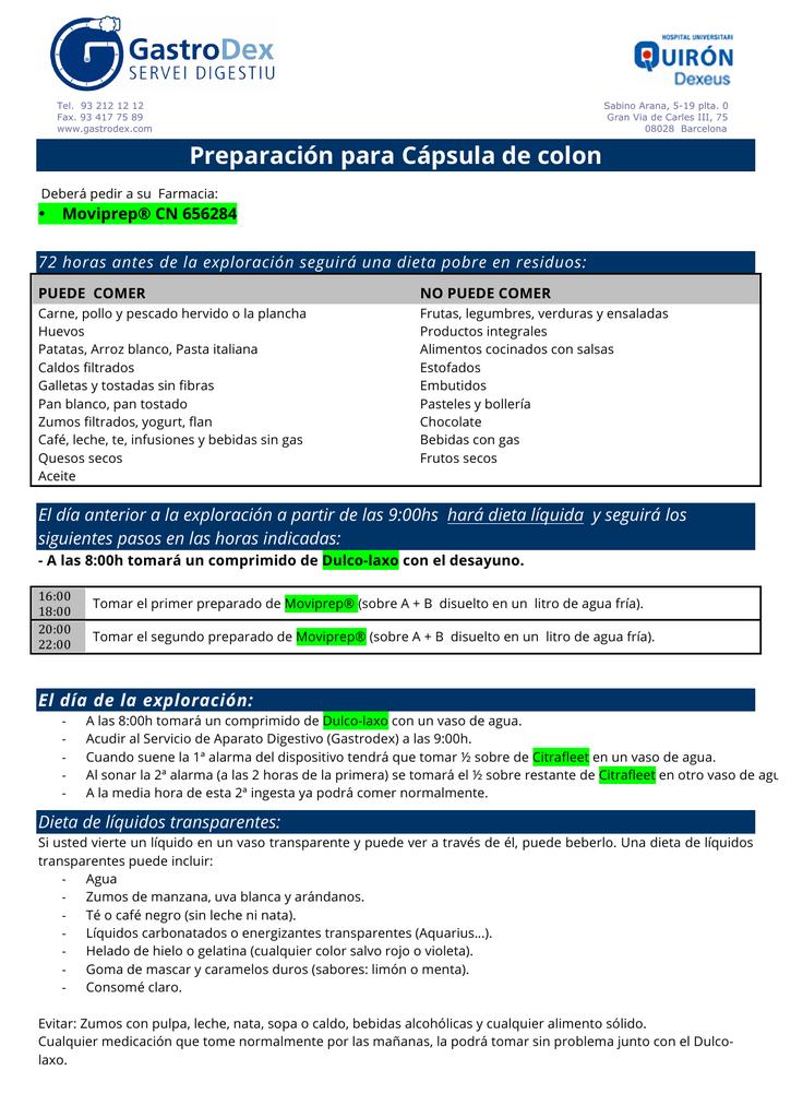 Descargar pdf con instrucciones para la preparación