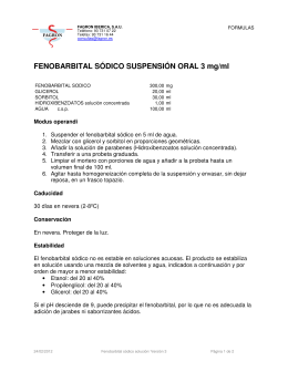 FENOBARBITAL SÓDICO SUSPENSIÓN ORAL 3 mg/ml