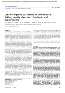 Can we improve our results in hemodialysis? Setting quality