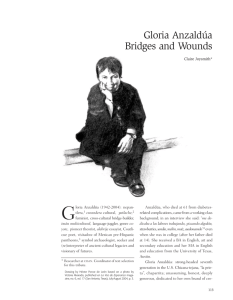 Gloria Anzaldúa Bridges and Wounds