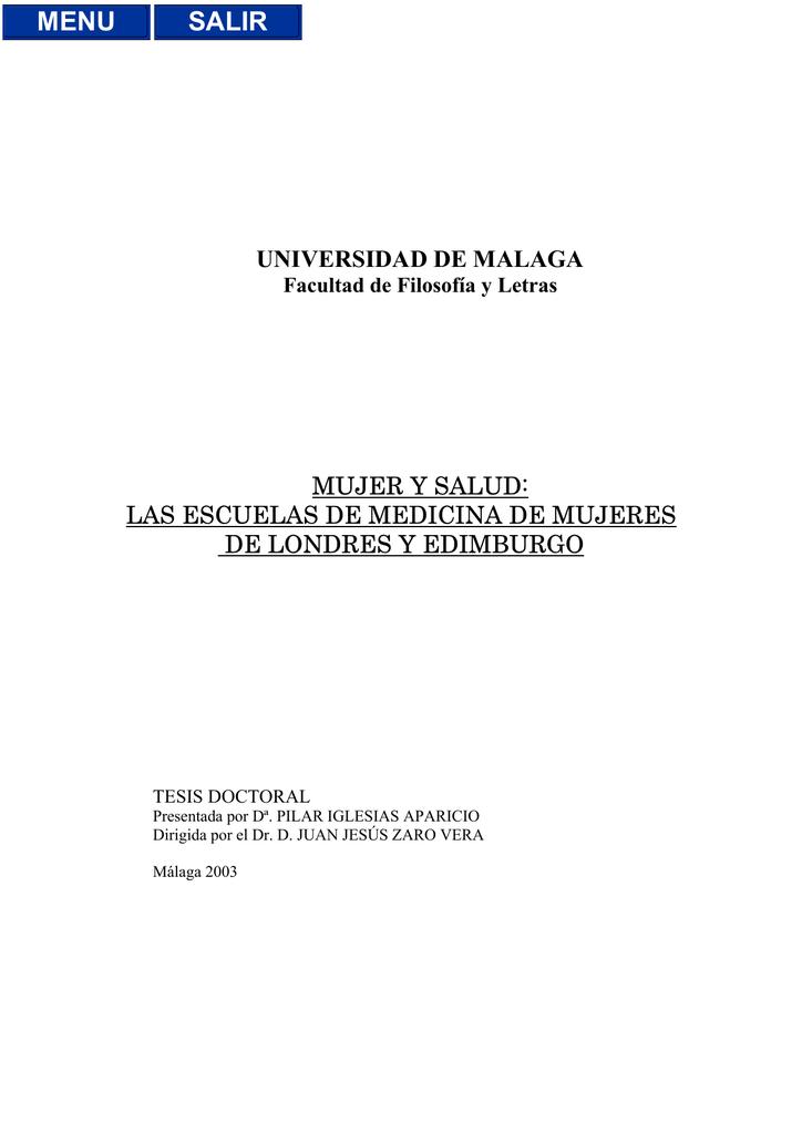 universidad de malaga mujer y salud: las escuelas de medicina de