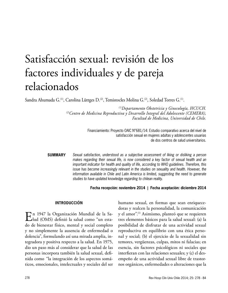relacion entre amor sexualidad y salud almería