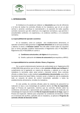 DOCUMENTO DE REFERENCIA DE LOS CONTROLES OFICIALES