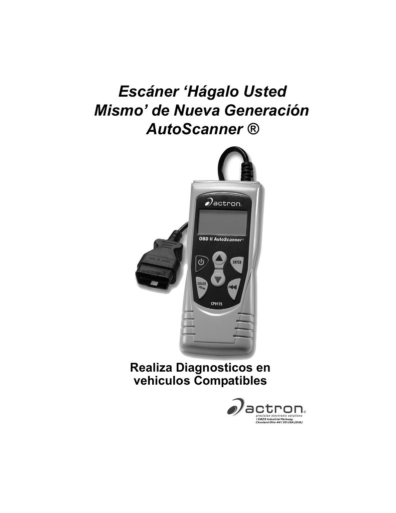Escáner `Hágalo Usted Mismo` de Nueva Generación AutoScanner ®