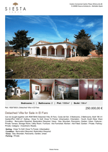 Detached Villa for Sale in El Faro