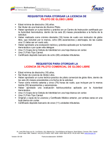 Requisitos Licencia Piloto Globo Libre