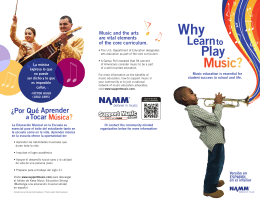 Music and the arts are vital elements of the core curriculum.