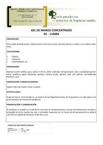 gel de manos concentrado rc - 110084 - recicla