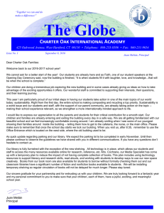The Globe - Charter Oak International Academy