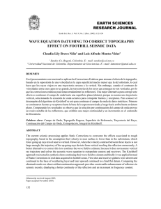 EARTH SCIENCES RESEARCH JOURNAL WAVE EQUATION