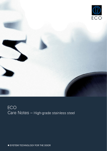 ECO Care Notes High-grade stainless steel