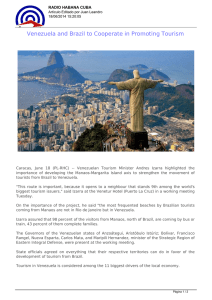 Venezuela and Brazil to Cooperate in Promoting Tourism
