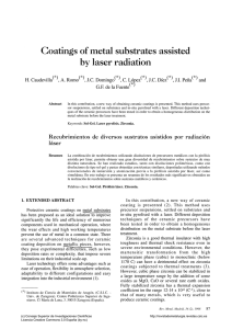 Coatings of metal substrates assisted by laser radiation