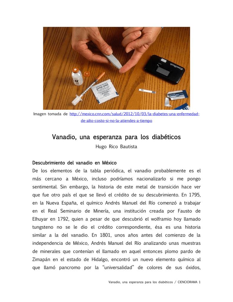 cromo y vanadio para la diabetes