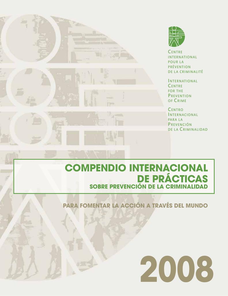 Compendio internacional de prácticas sobre prevención de la
