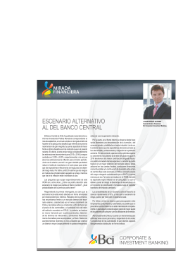 escenario alternativo al del banco central