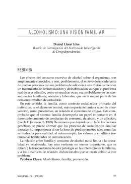 ALCOHOLISMO: UNA VISIÓN FAMILIAR