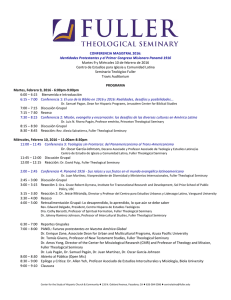 CONFERENCIA MAGISTRAL 2016 - Fuller Theological Seminary