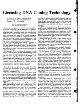 fiicensing DNA Cloning Technology - OTL