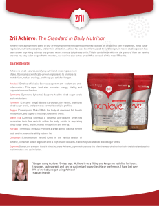Zrii Achieve: The Standard in Daily Nutrition