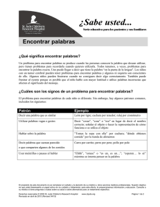 Encontrar palabras - St. Jude Children`s Research Hospital