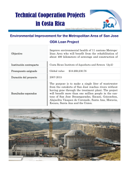 Technical Cooperation Projects in Costa Rica